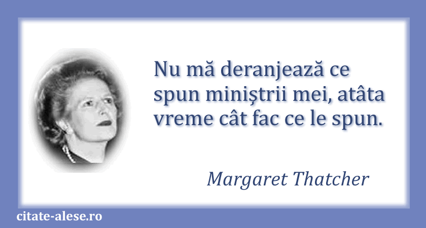 Margaret Thatcher, citat despre politicieni