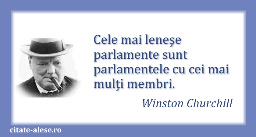 Winston Churchill, citat despre parlament